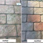 Reinigung Terrassenplatten Pflastersteine Rebmann Betonsteinwerk