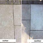 reinigung granit vorher nachher Rebmann Betonsteinwerk